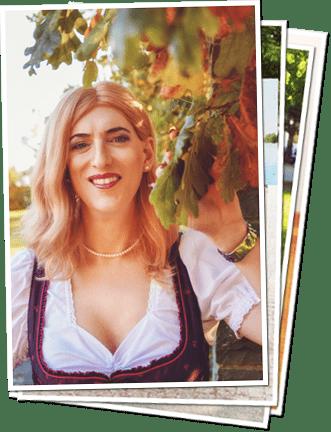 Annica Springmann im Dirndl